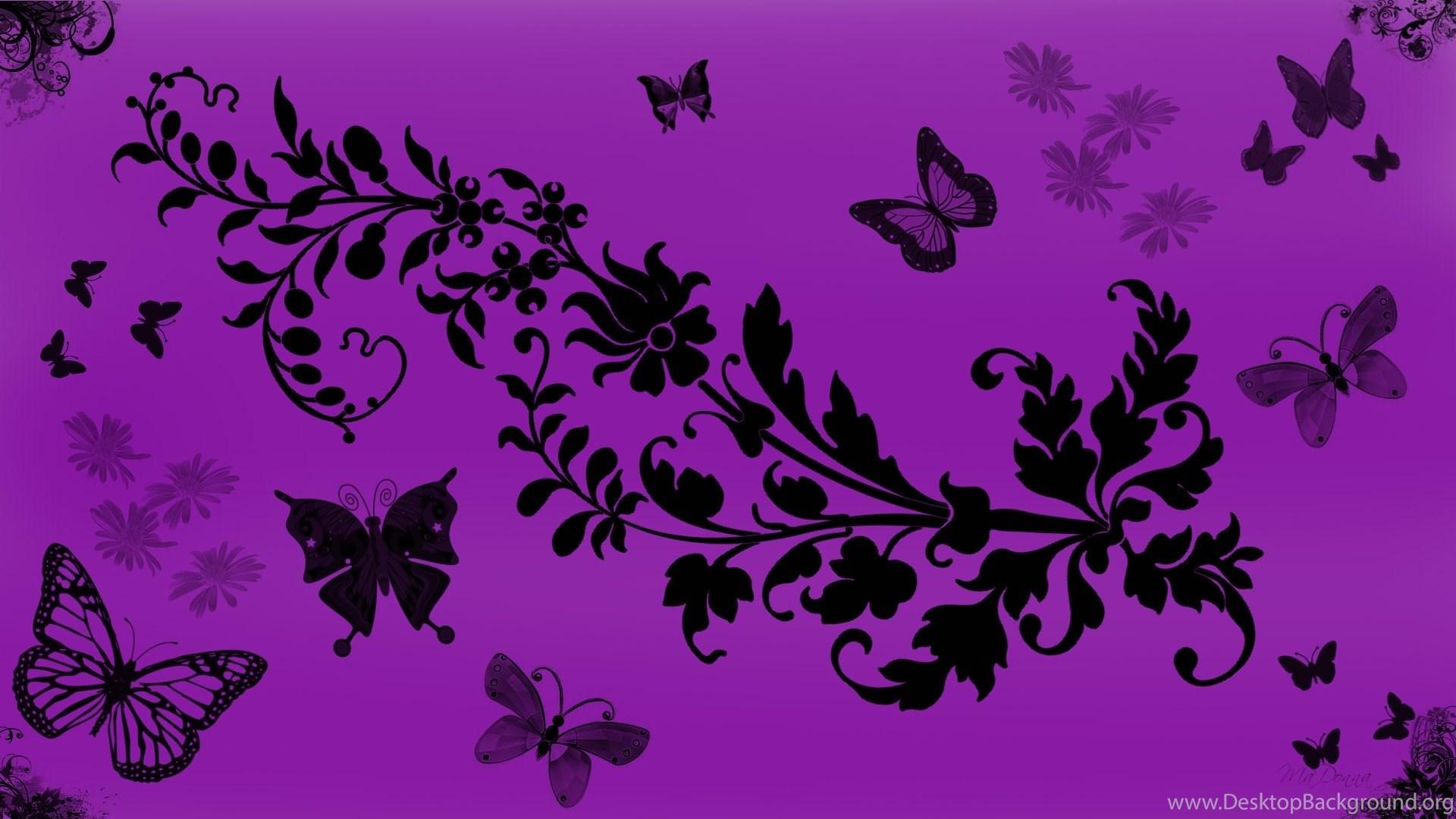 Purple Butterfly Wallpapers Free HD 6984 Site Desktop