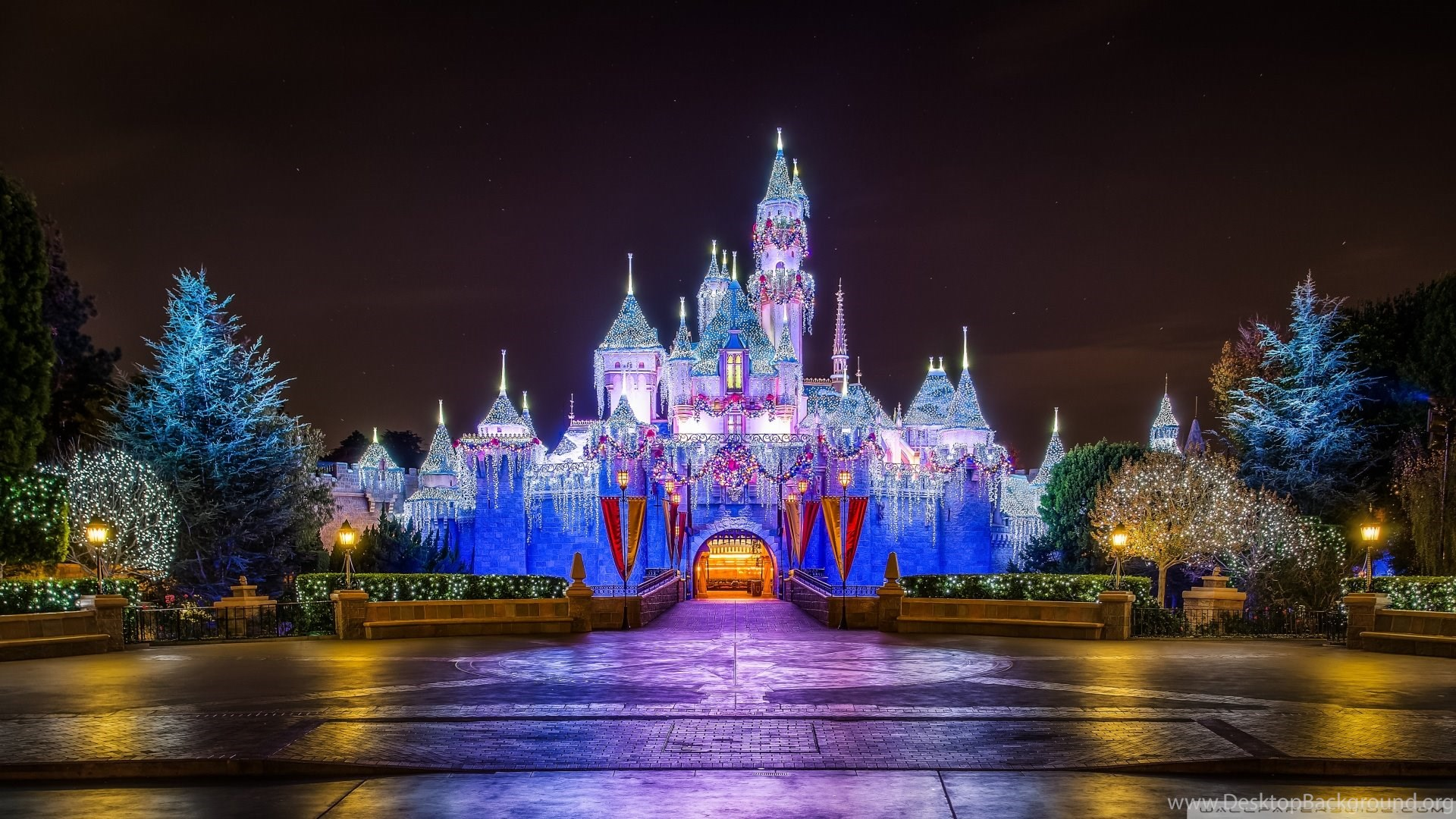 Disneyland Castle Christmas Wallpapers Desktop Background
