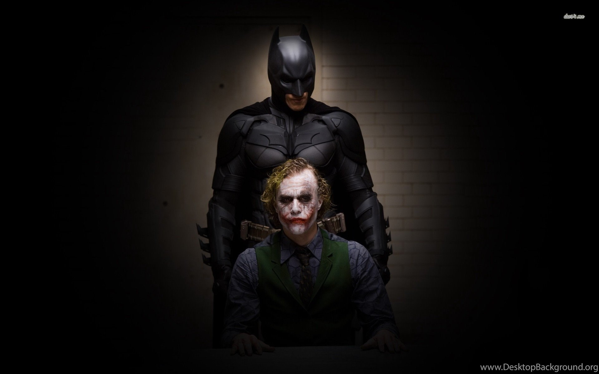 Batman And The Joker Christian Bale Heath Ledger The Dark