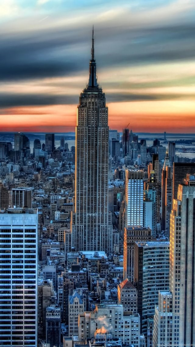 Sunset In New York City Wallpapers For Iphone 5 Desktop Background