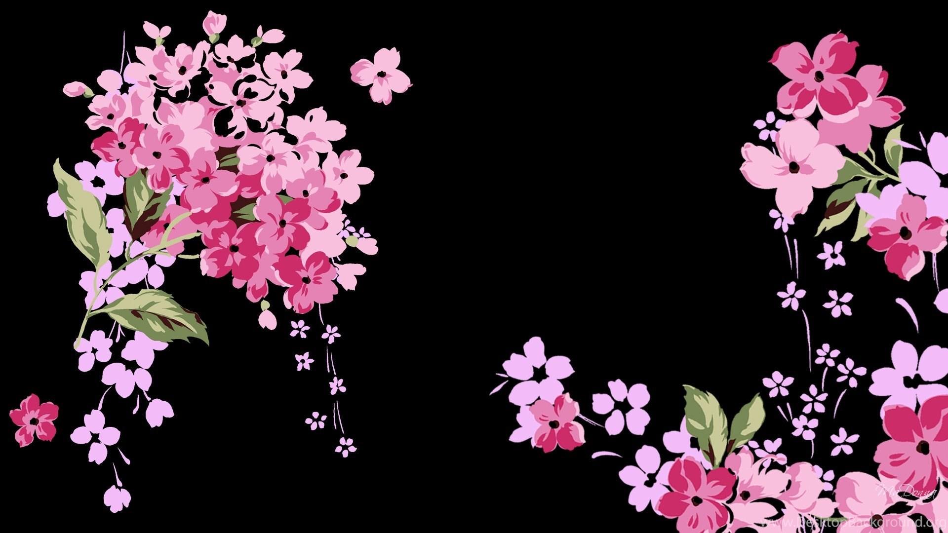 картинки на экран цветы на черном фоне для такой важной