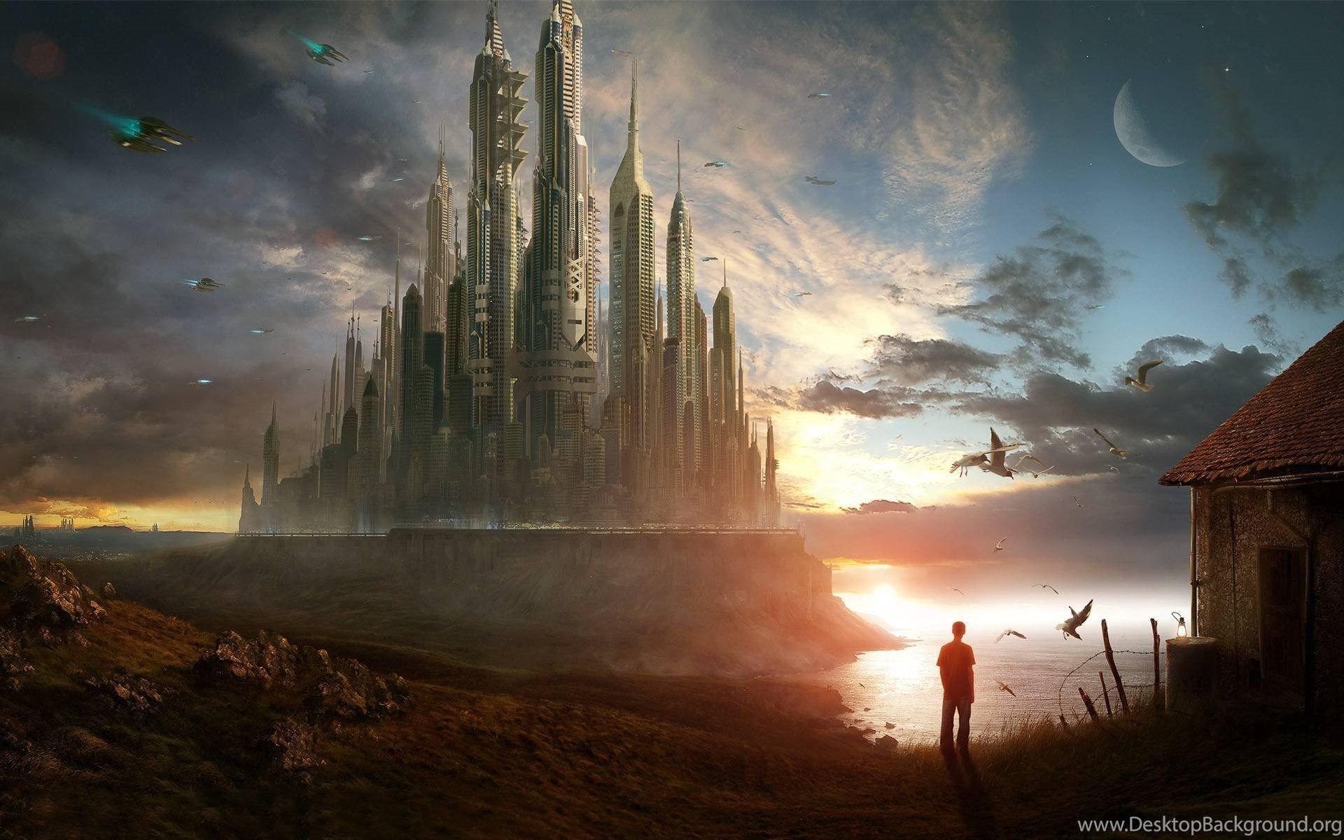 HD Sci Fi Fiction Landscape Wallpapers For Desktop Full Size