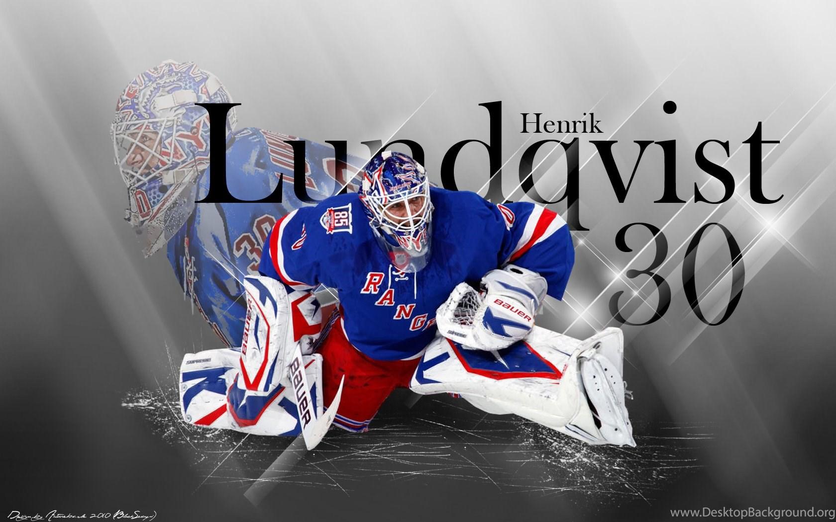 Nhl New York Rangers Hockey Player Henrik Ludqvist Wallpapers Hd Desktop Background