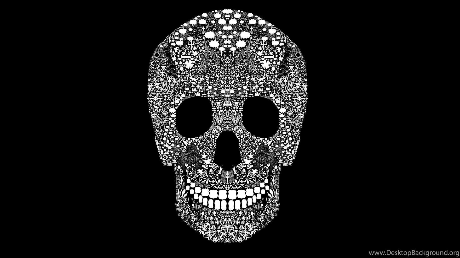 Day Of The Dead Skull Wallpapers Perfectwallpapers Net Desktop