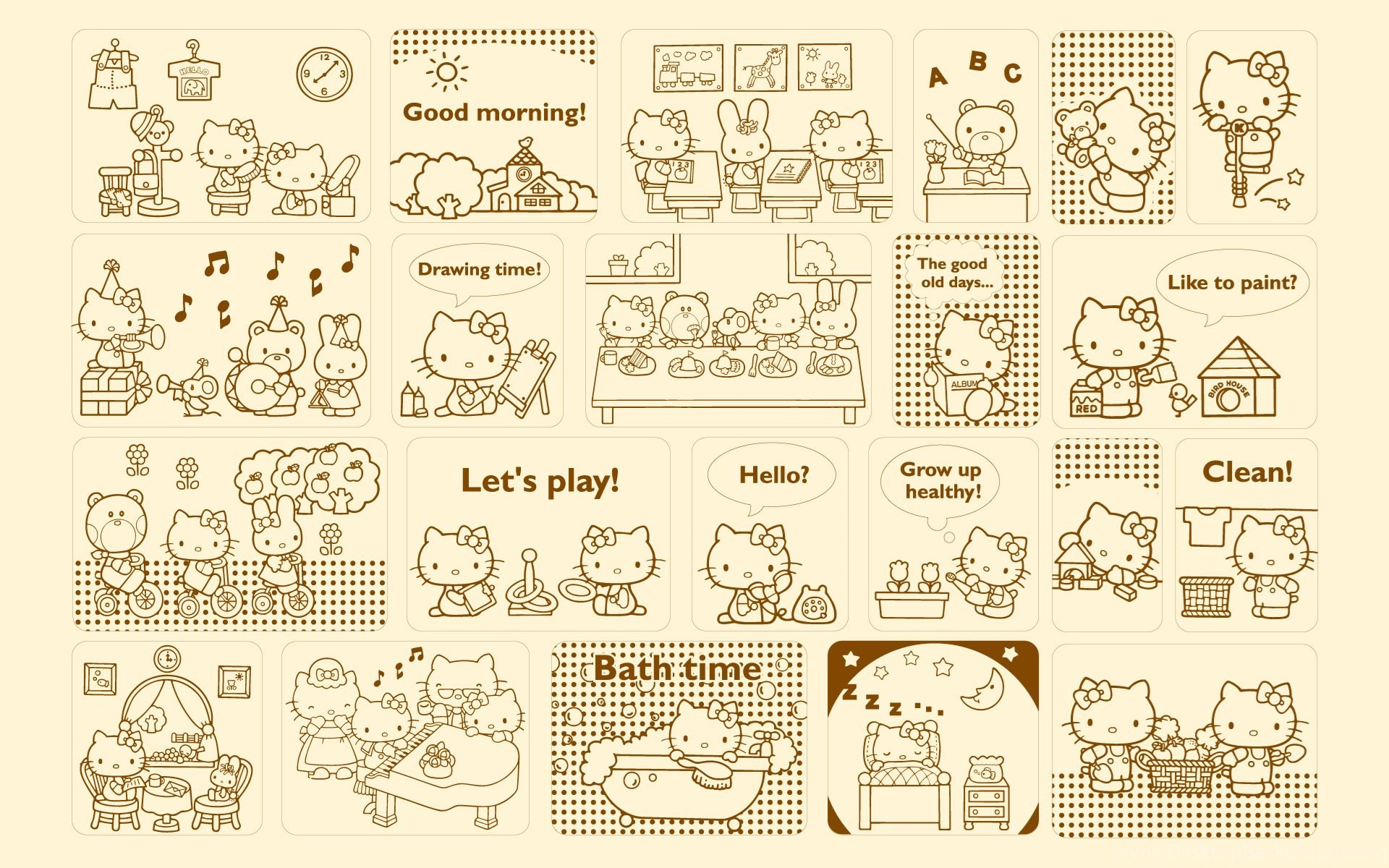 Hello Kitty Widescreen Wallpapers Wallpapers HD Wallpapers