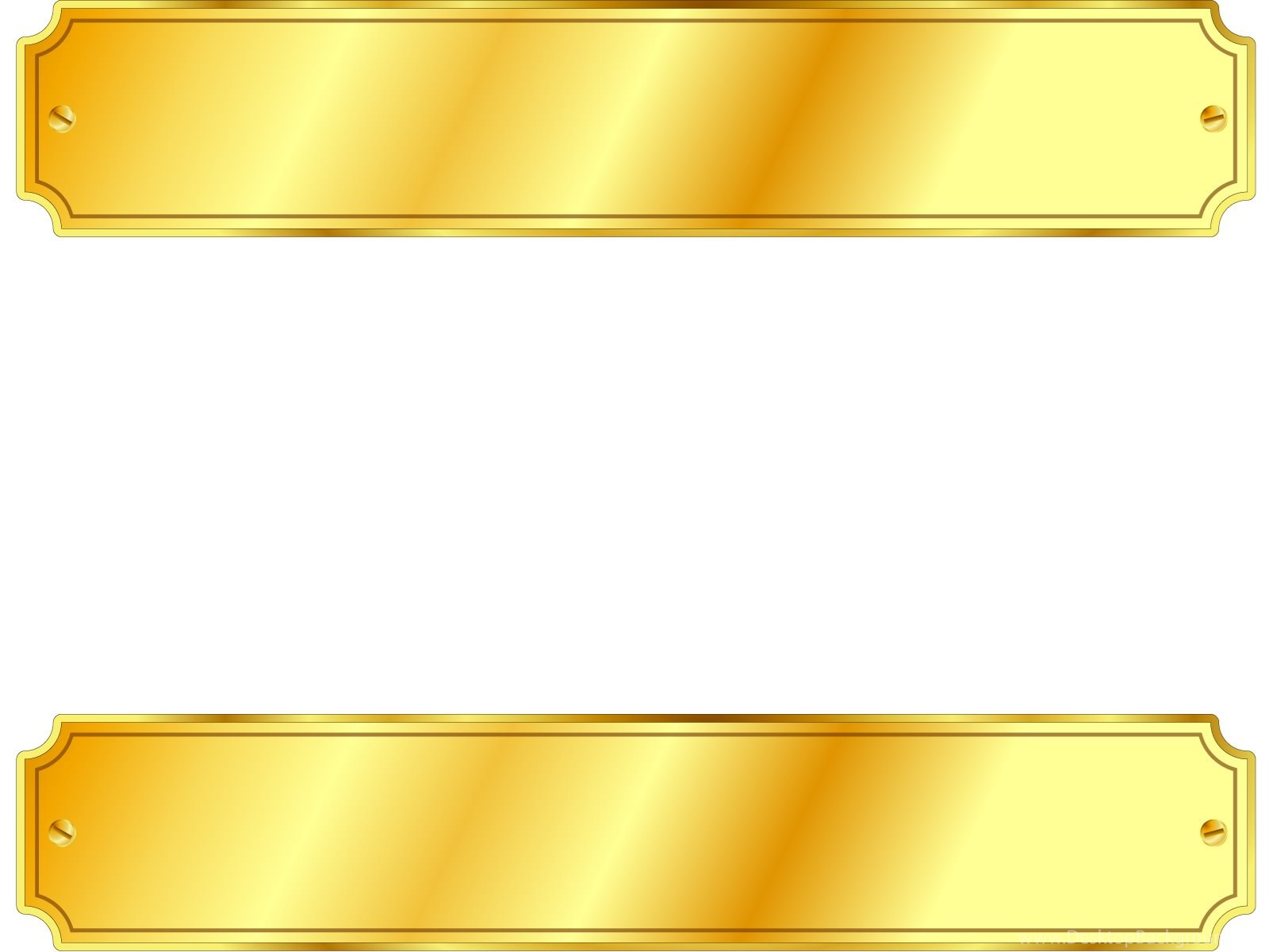 Gold Metal Sign Backgrounds 3D, Border & Frames, White