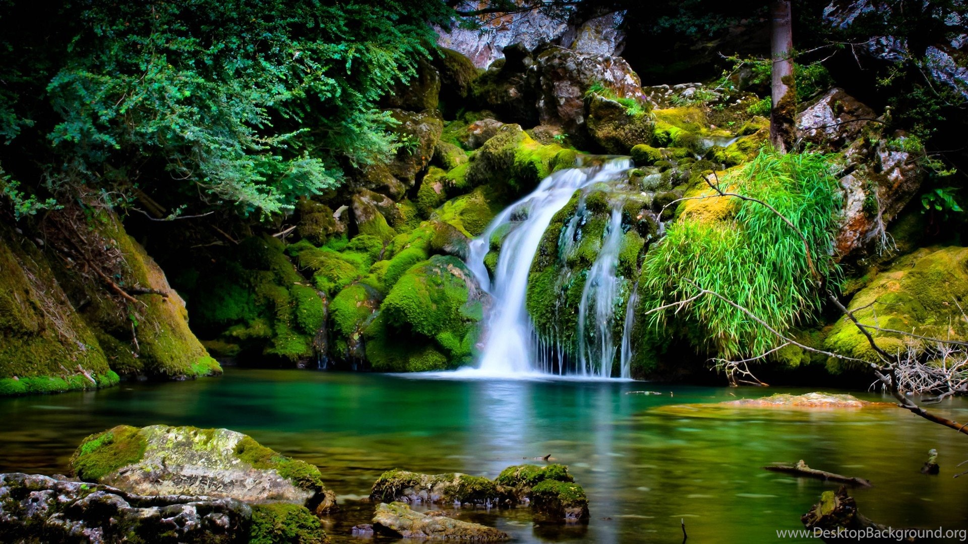 Nature Landscape Waterfall 3D Wallpapers HD Desktop And