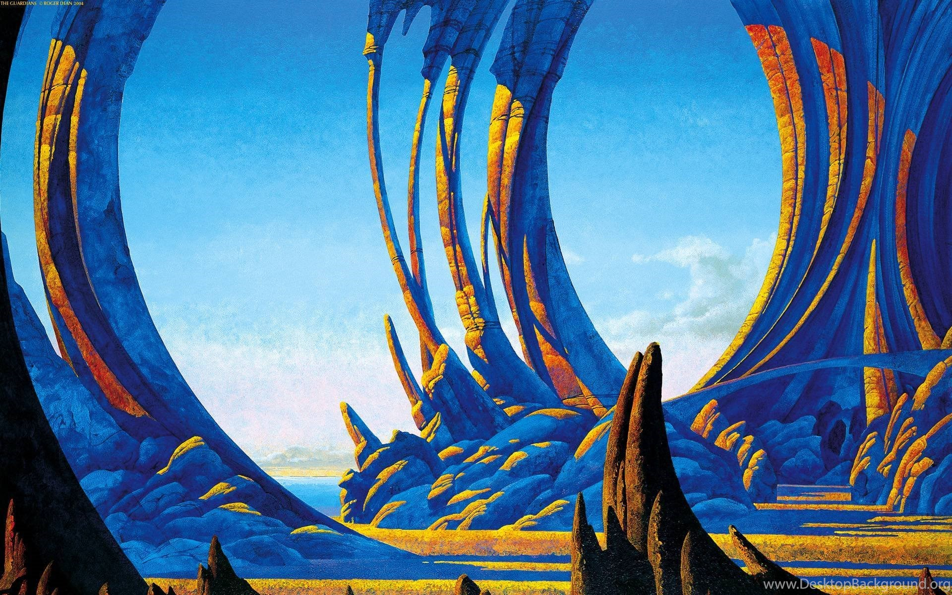 Wallpapers By Roger Dean Wallpapers Abyss Desktop Background
