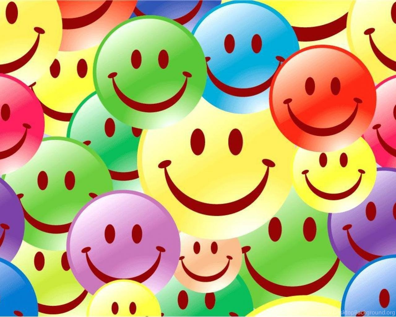 colourful smileys wallpaper desktop background