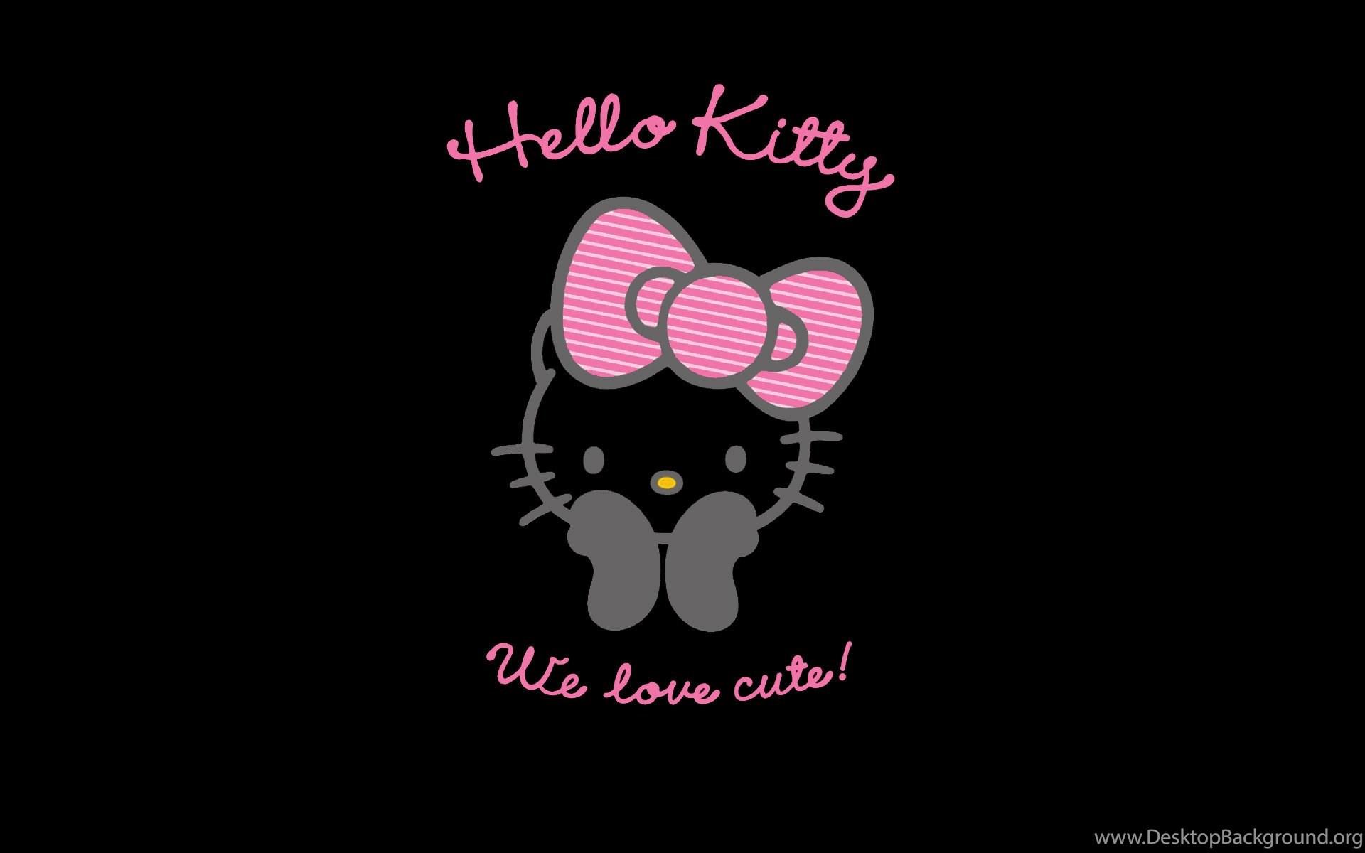 Free Black Hello Kitty Wallpapers Desktop Background