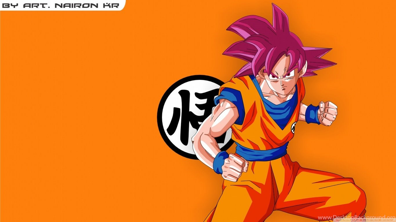 Goku Super Saiyajin God Hd Desktop Wallpapers High Definition