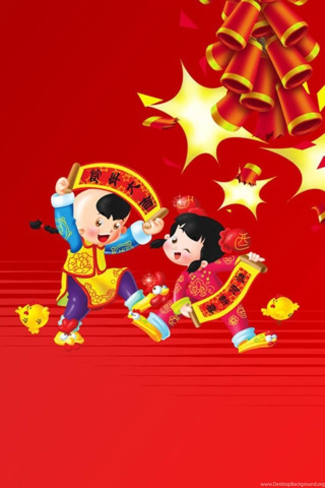 Fantastic Chinese New Year Cartoon Iphone Hd Wallpapers Full Size Desktop Background