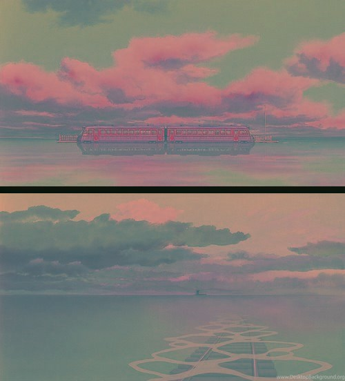 Views From The Train Scene In Spirited Away Desktop Background