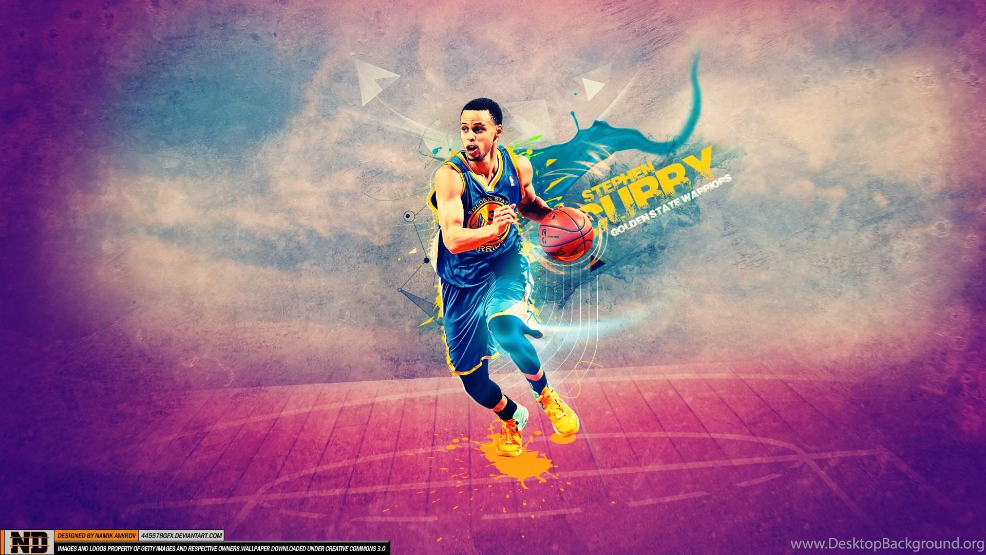 Stephen Curry Golden State Warriors Backgrounds Desktop Background