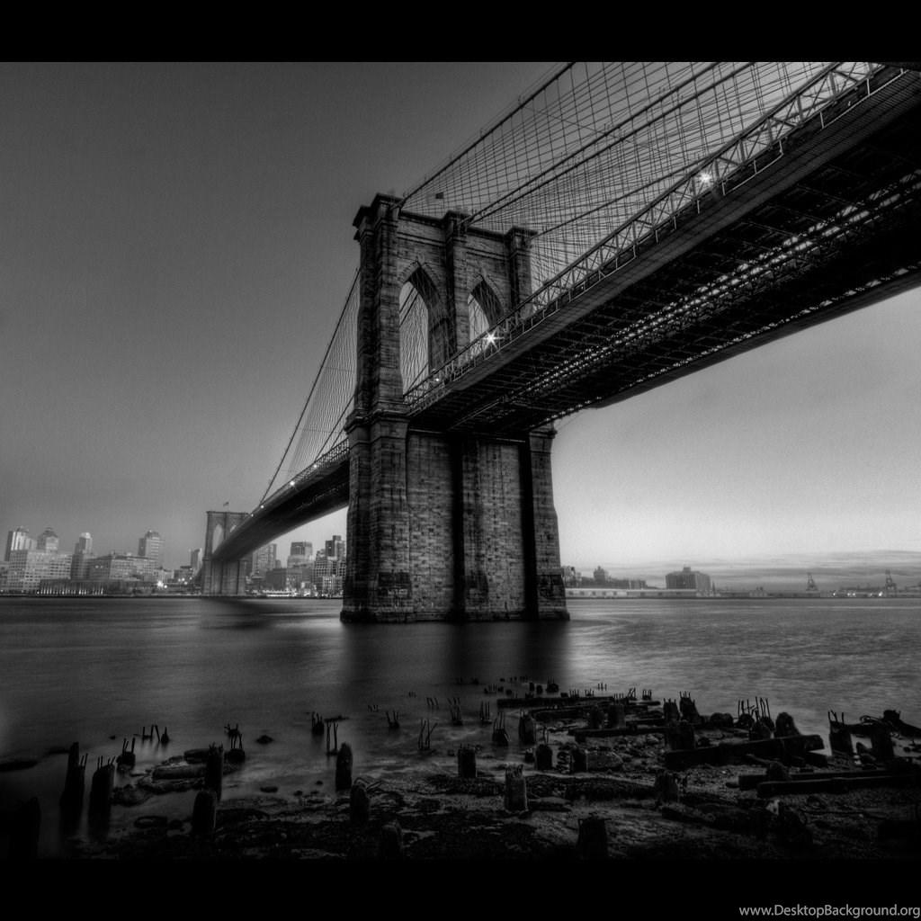 Brooklyn Bridge Wallpapers Black And White Wallpapers Hd Wide Desktop Background