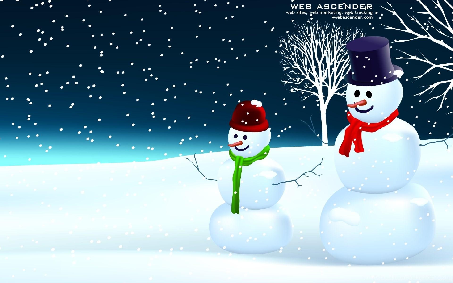 Целую, новогодние картинки со снеговиками на рабочий стол