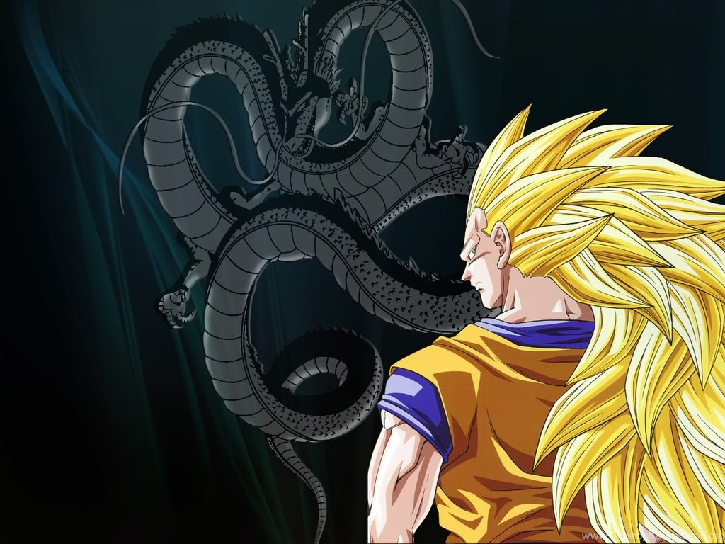 Dbz Wallpapers Goku Shenron Ssj3 Super Saiyan 3 Pictures Images