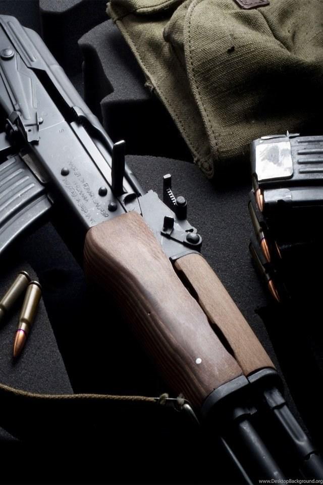 AK 47 Rifle IPhone Wallpaper 640x960 Desktop Background