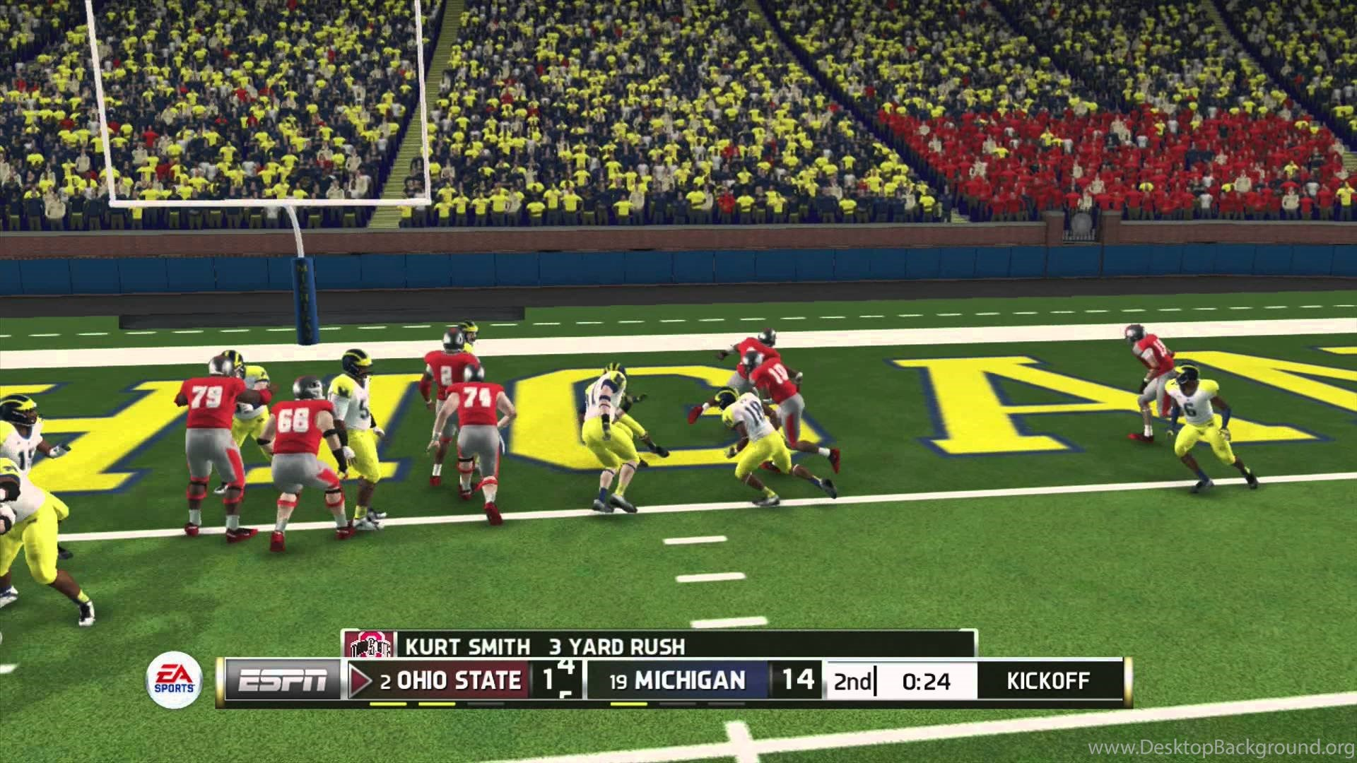 NCAA Football 2014 Demo Ohio State Buckeyes Vs Michigan Desktop