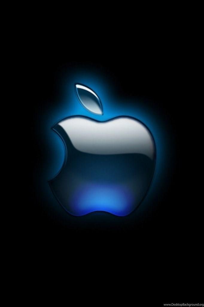 Black Glossy Apple Logo Iphone Wallpapers Hd Iphone 5 Wallpapers Desktop Background