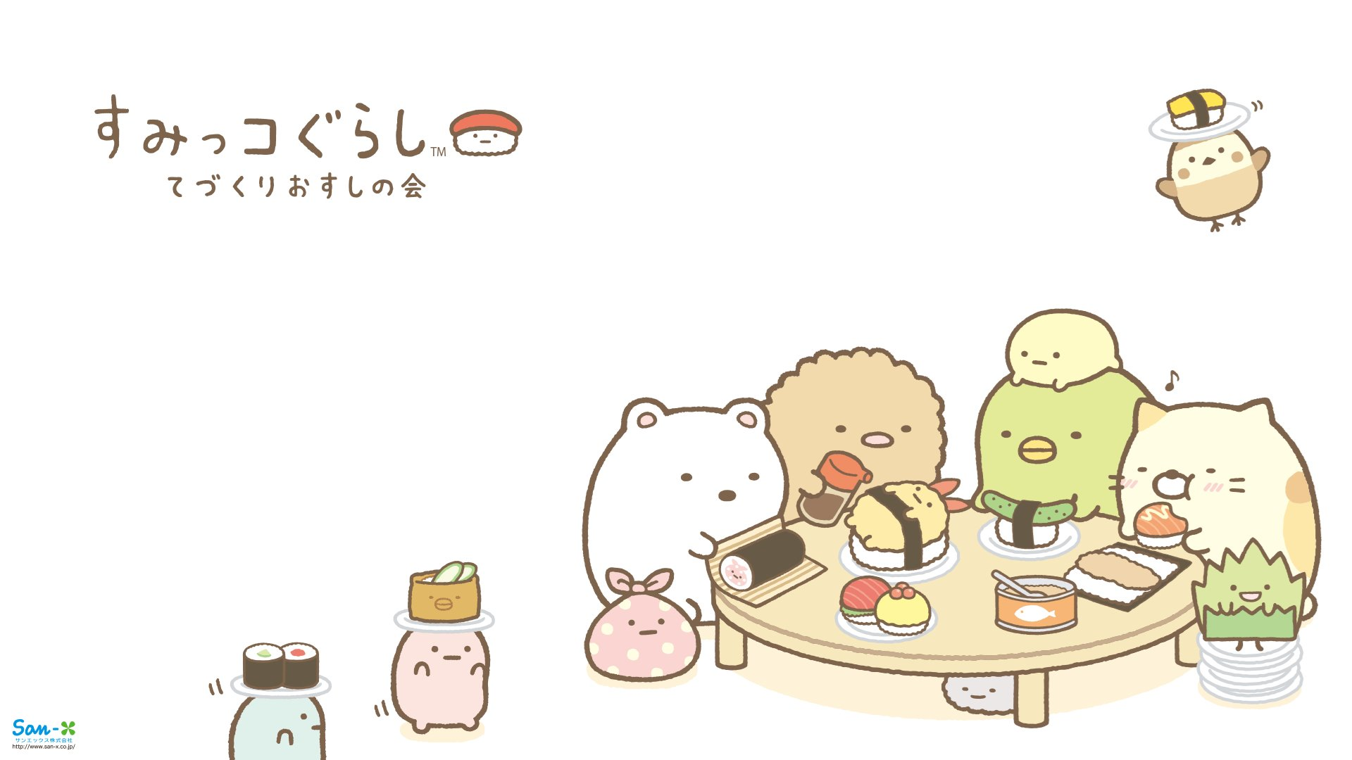 Sumikkogurashi sushi wallpapers cute kawaii desktop - Cute asian cartoon wallpaper ...