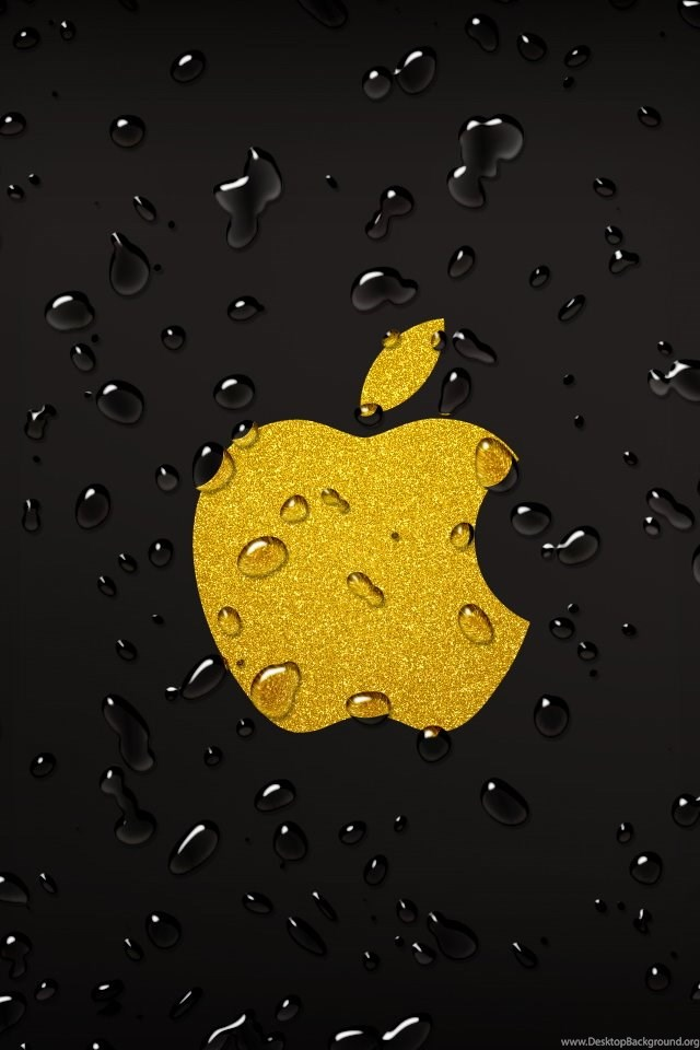 Yellow Apple Droplets Iphone Wallpapers Ipod Wallpapers Hd Free Desktop Background