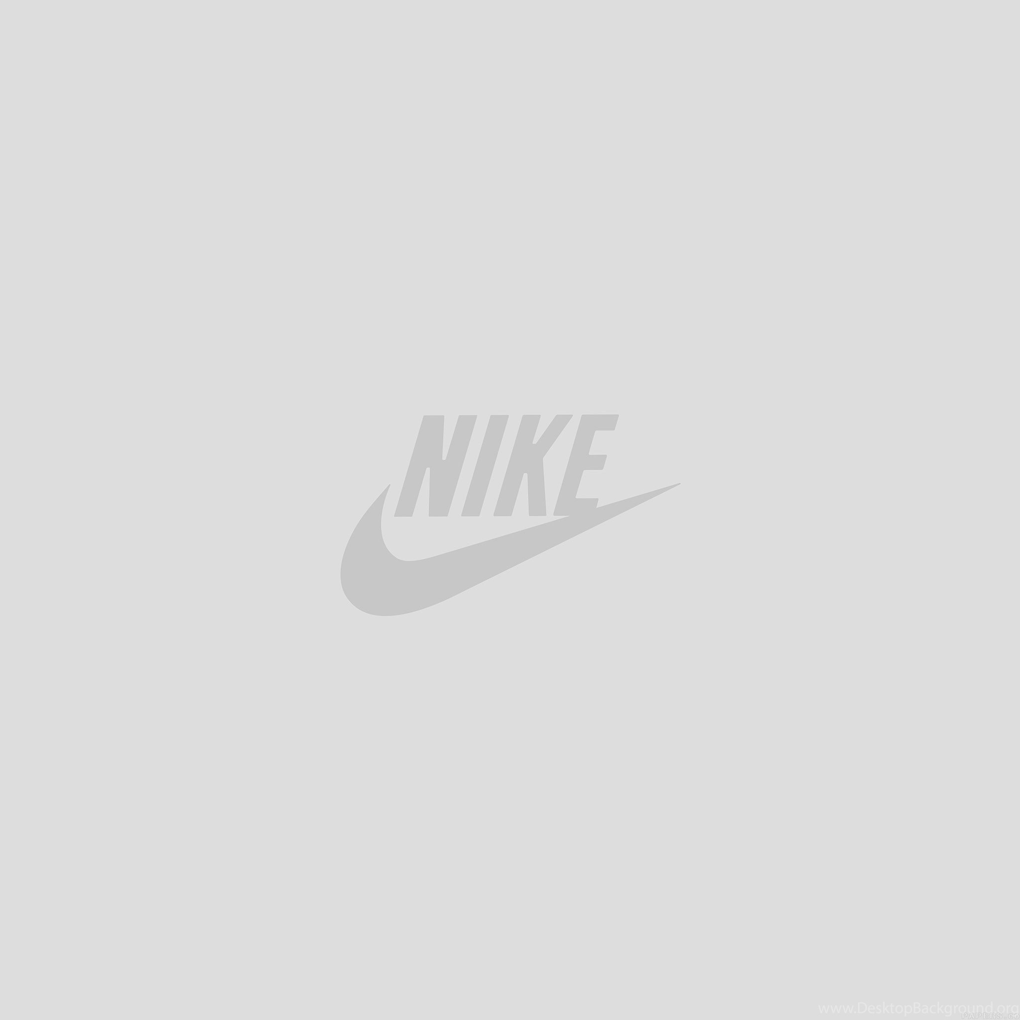 Nike Logo Sports Art Minimal Simple White iPad Air Wallpapers .