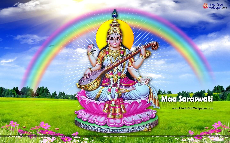 Full Size Hd Wallpapers: Maa Saraswati Wallpapers Download Desktop Background