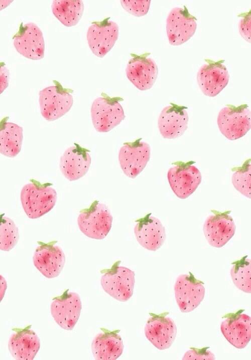 878198 cute pastel strawberry tumblr wallpaper wallapers