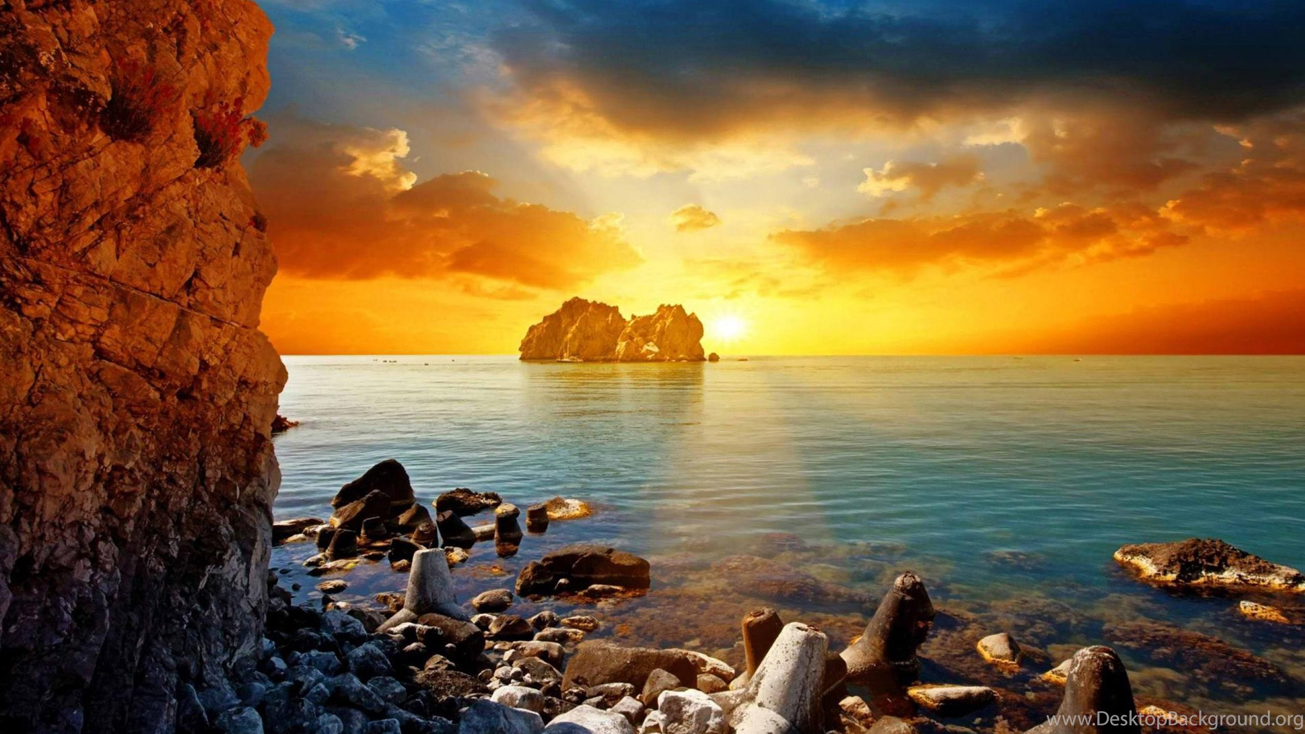 Tropical Beach Sunset Wallpapers 09 Hd Desktop Wallpapers Desktop Background