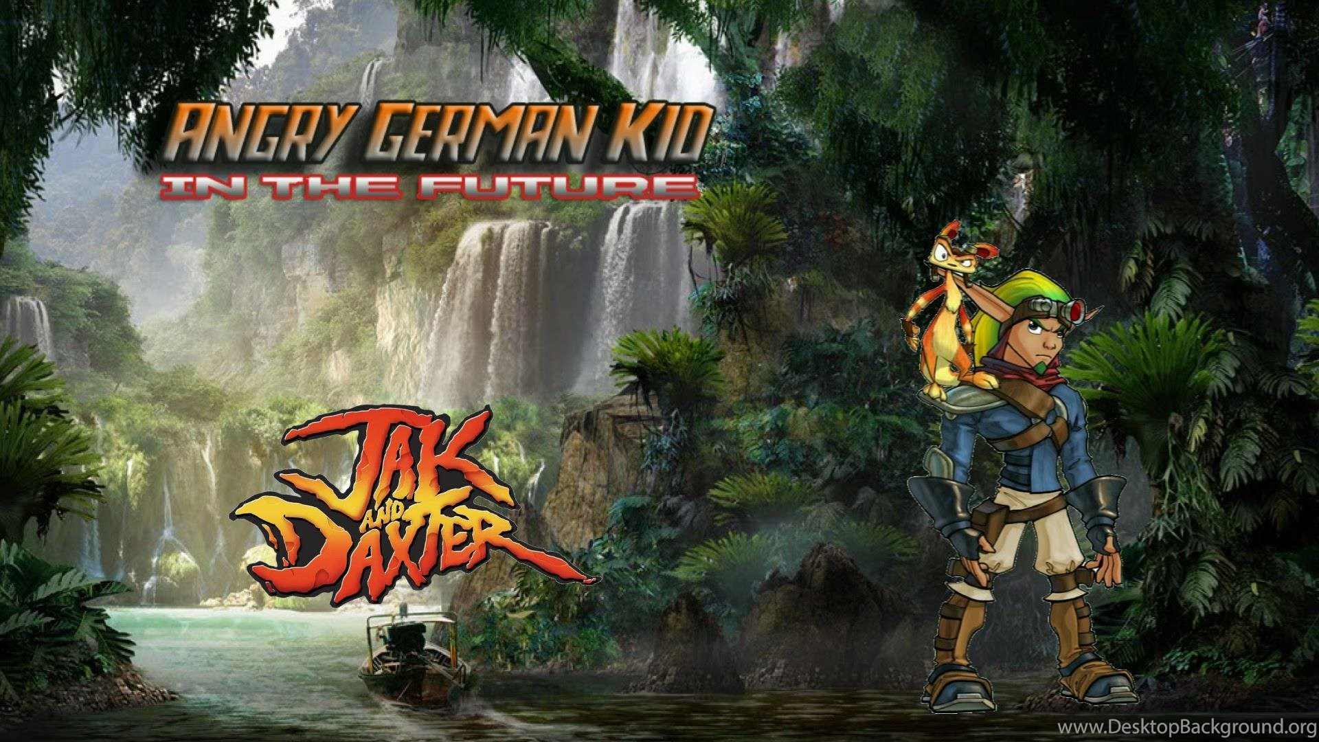 Image Jak And Daxter Wallpaper Jpg Angry German Kid Wiki Wikia