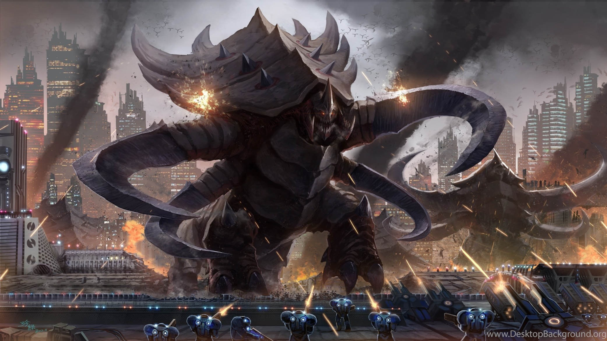 StarCraft, Zerg, Terran, Ultralisk, StarCraft II :: Wallpapers