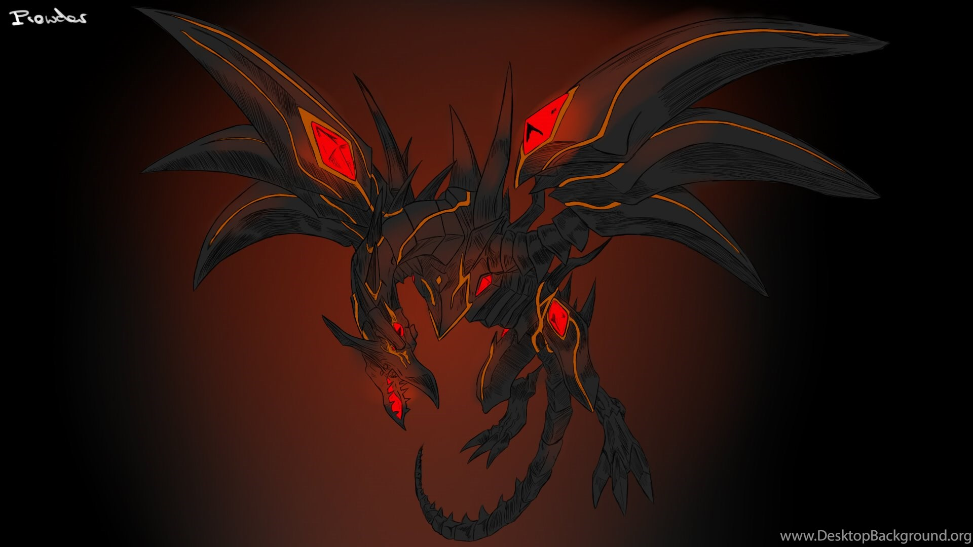 Yu Gi Oh Dragons Red Eyes Darkness Dragon By Prowdz On