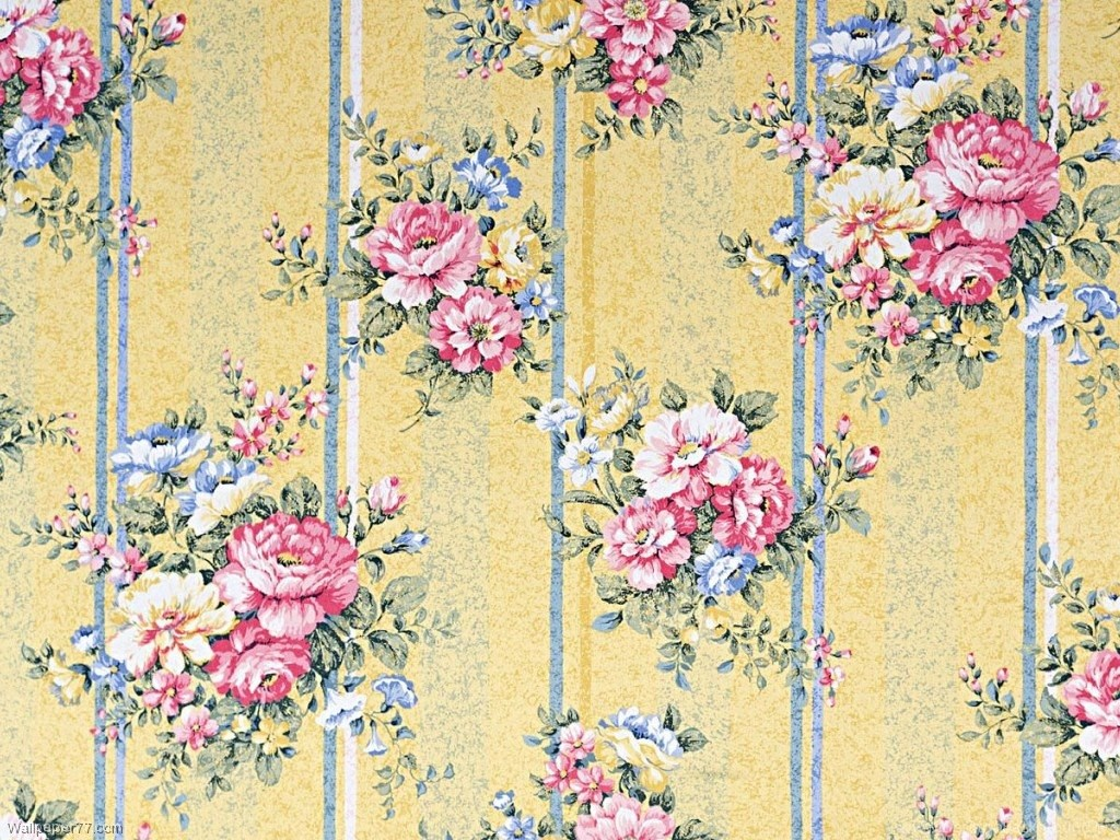 Vintage Flower Patterns Hd Wallpapers Pretty Desktop Background