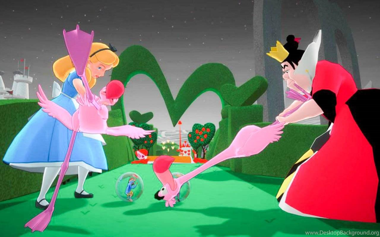 Alice In Wonderland Cartoon Hd Desktop Backgrounds All Hd