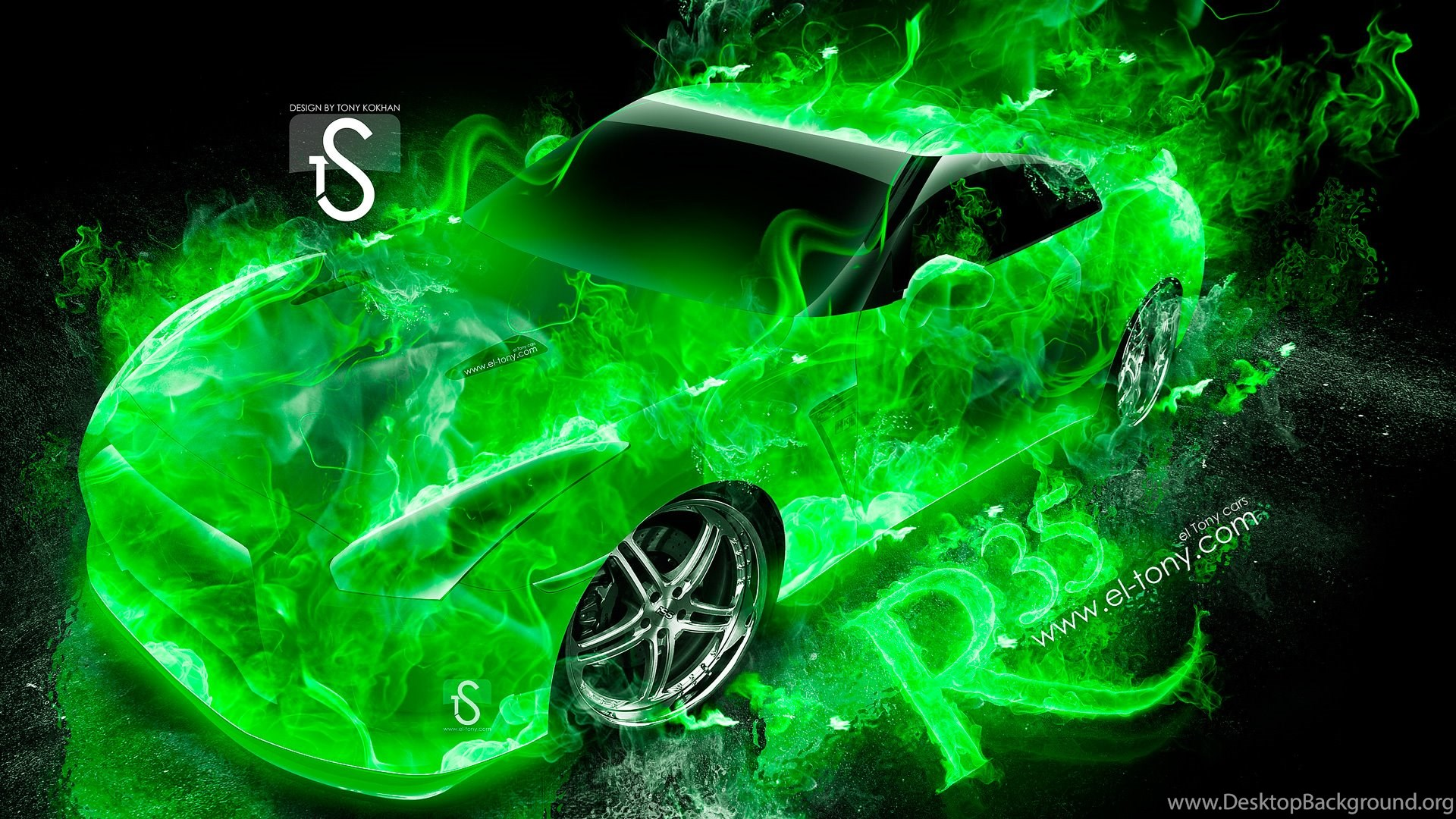 Nissan GTR R35 Fire Abstract Car 2013 « El Tony