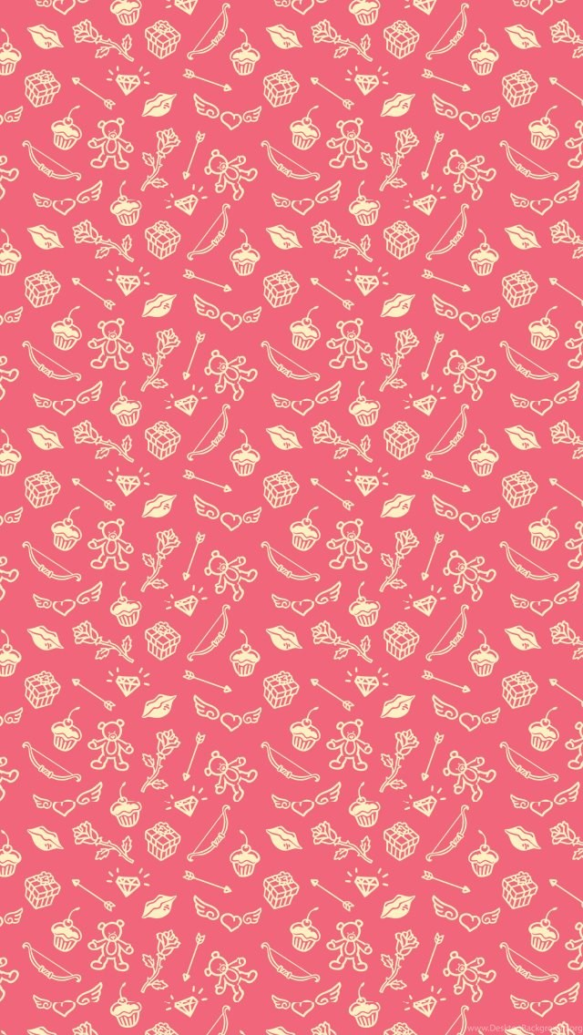 Saint Valentines Cute Things Pattern IPhone 5 Wallpapers IPod