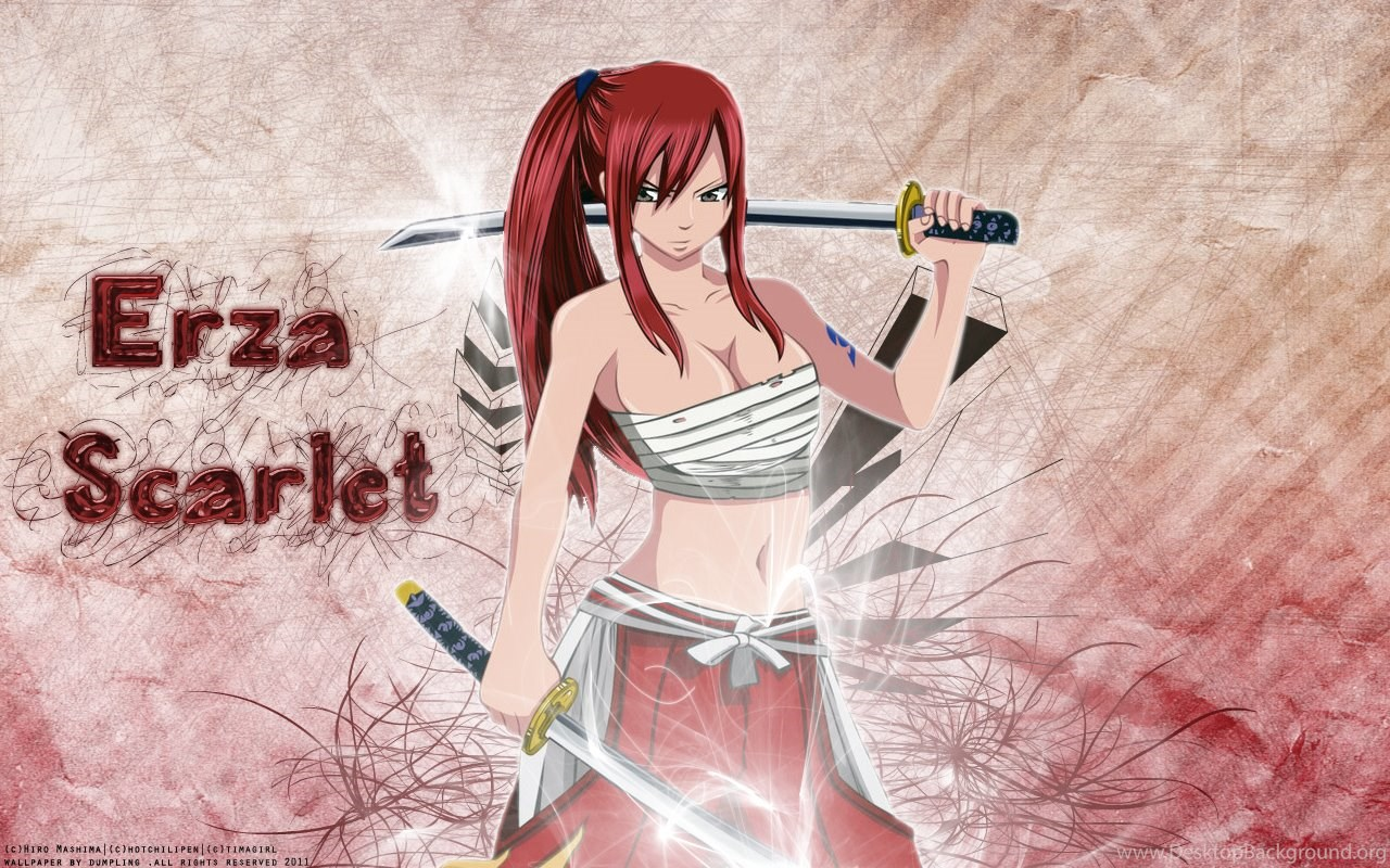 Erza Scarlet Sword Fairy Tail Wallpapers Hd Desktop Background