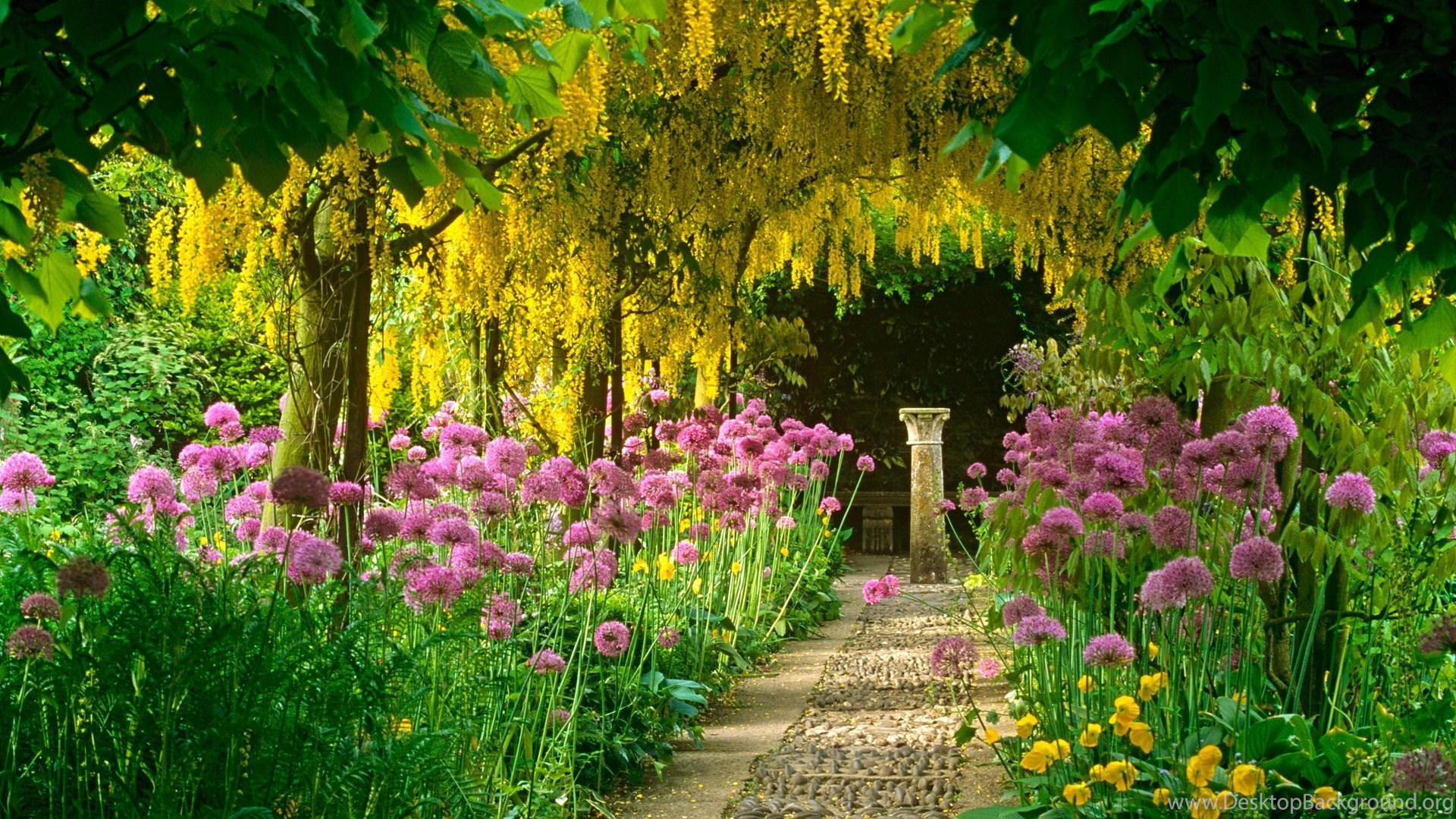 French Garden Wallpapers Desktop Background