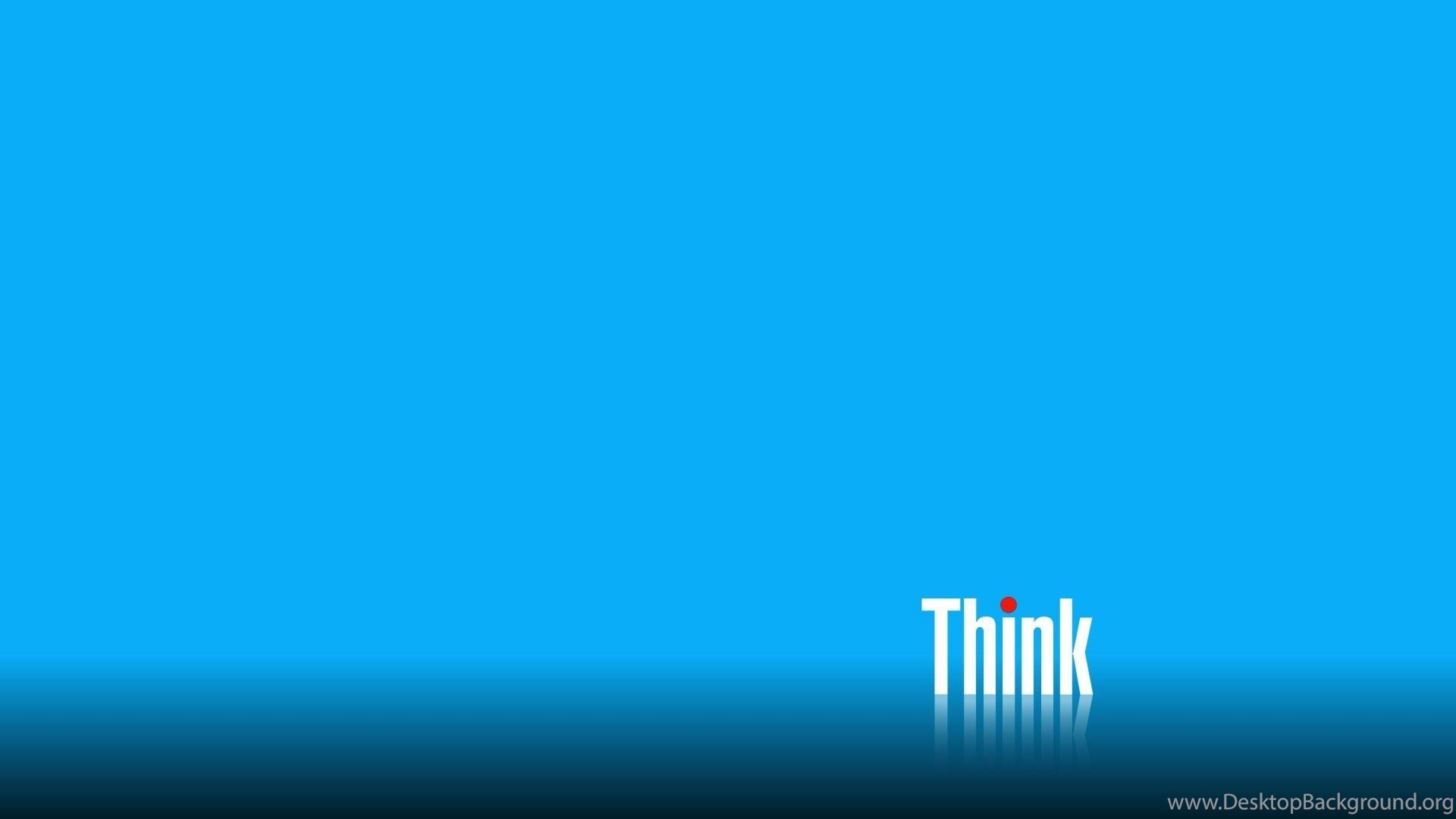 Wallpaper Lenovo Think Computer Blue Backgrounds Wallpapers