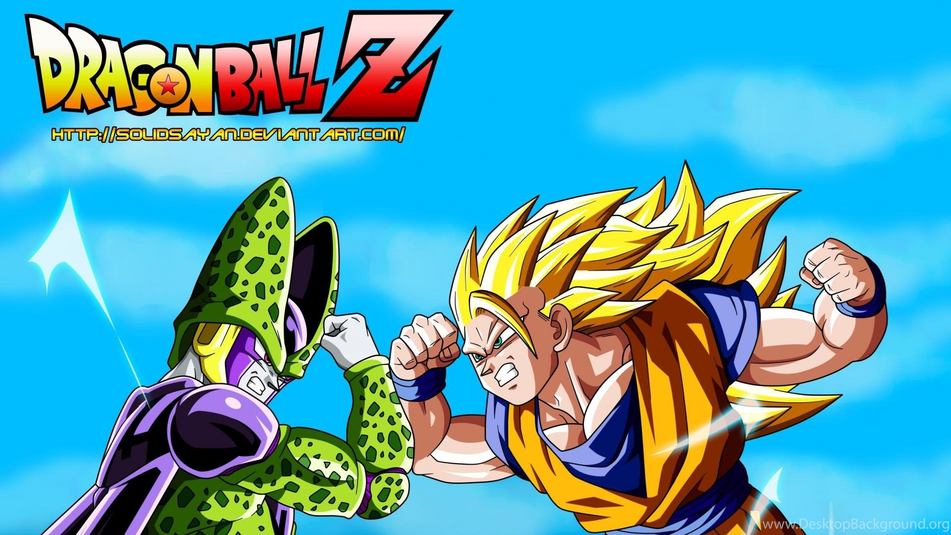 Goku Perfect Cell Dragon Ball Z Gt Wallpapers Desktop Background