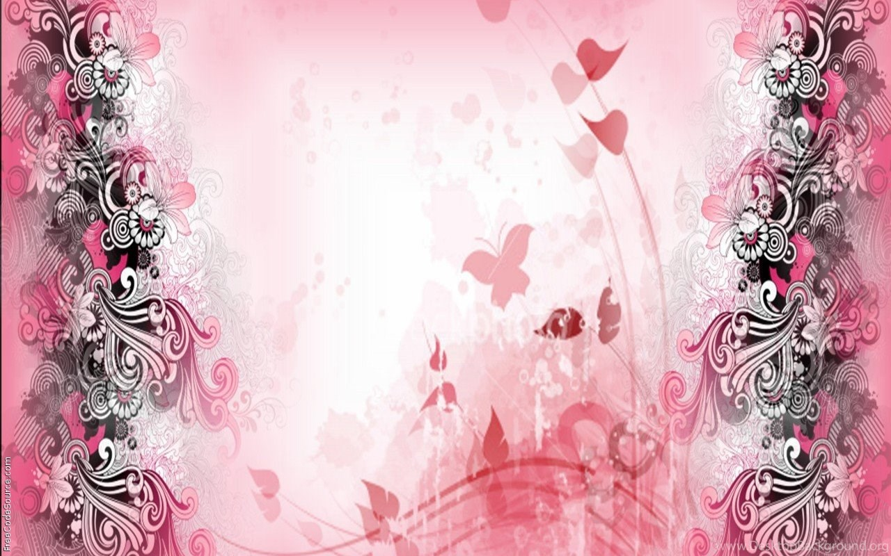 Pink Girly Twitter Backgrounds Desktop Background