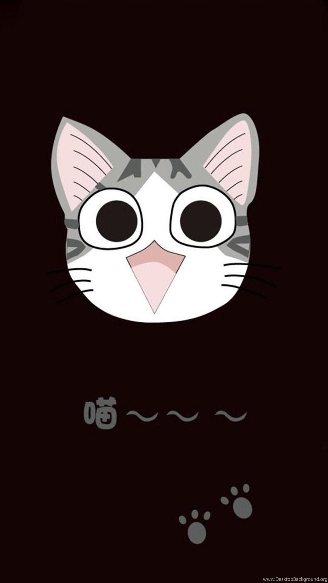 Cute Cat Cartoon 06 Galaxy S5 Wallpapers Jpg Desktop Background