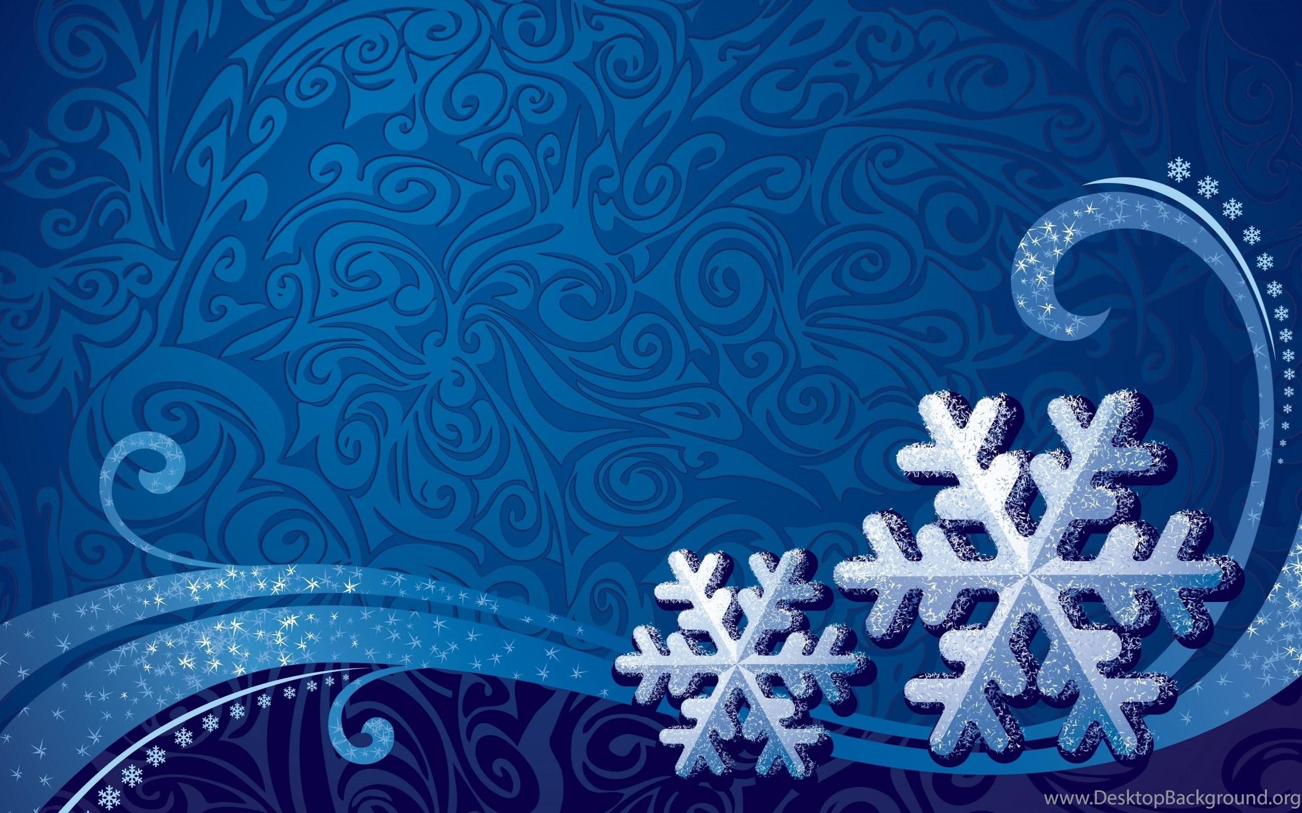 Snowflake Patterns Vector Art Blue Backgrounds Wallpapers HD Desktop