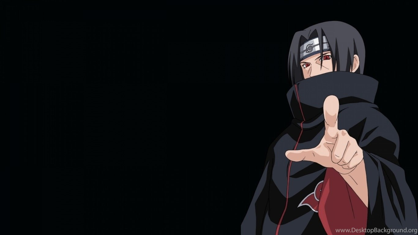 Naruto Shippuden Akatsuki Uchiha Itachi Black Backgrounds Desktop Background