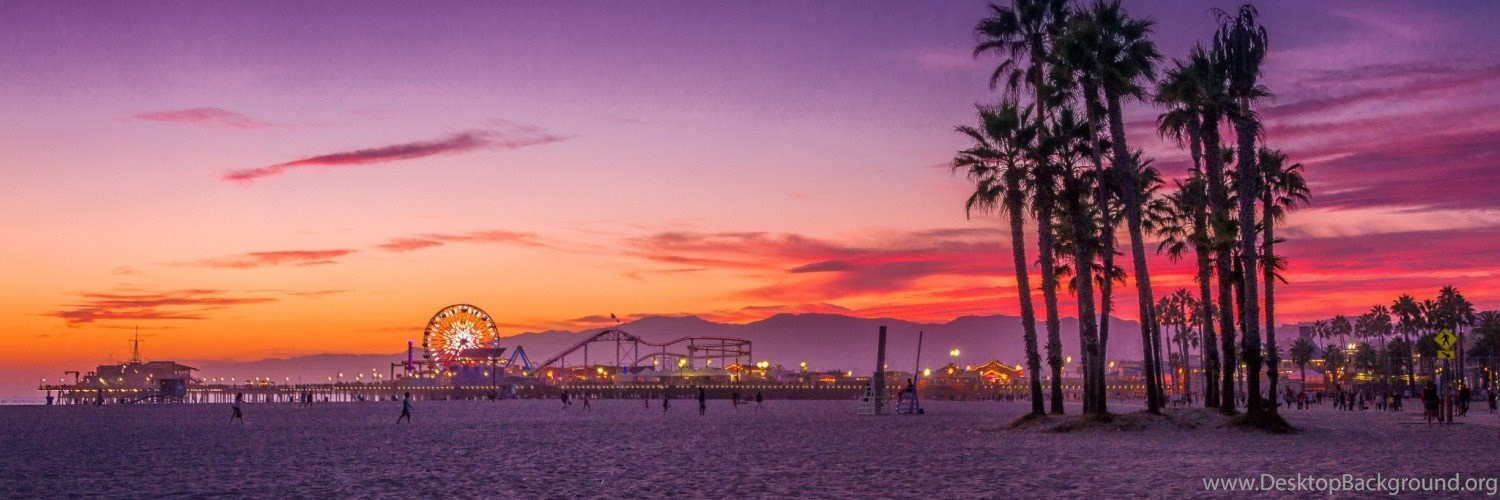 los angeles santa monica beach wallpapers twitter header