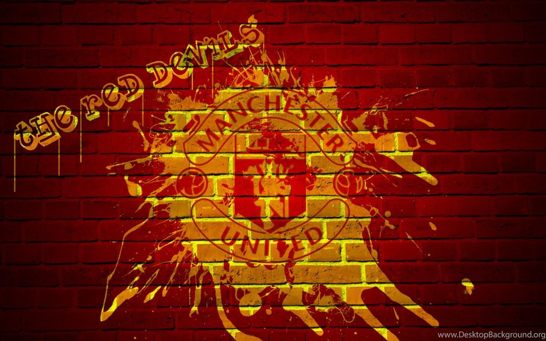 Manchester United Logo Graffiti 2015 Desktop Background