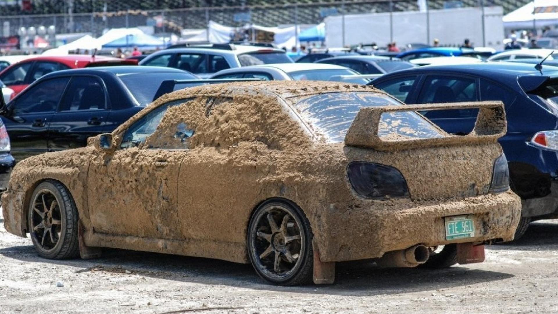Cars Mud Subaru Impreza Wrx Sti Wallpapers Desktop Background