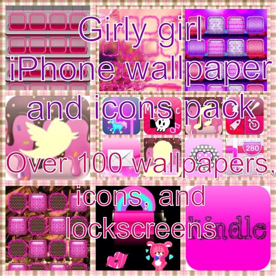 Girly Girl Iphone Ipod Wallpapers Icons Pack By Forever A Lone Desktop Background