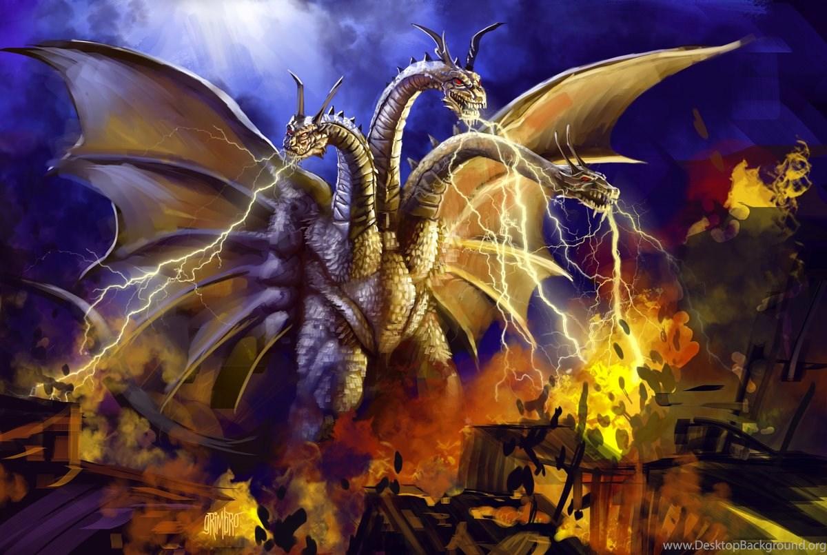 Godzilla Vs King Ghidorah By Nobackstreetboys On Deviantart